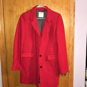 Red Old Navy peacoat!